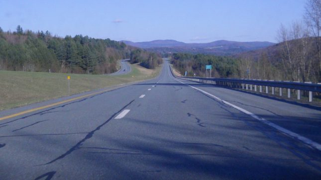 Interstate 91 southbound Vermont
