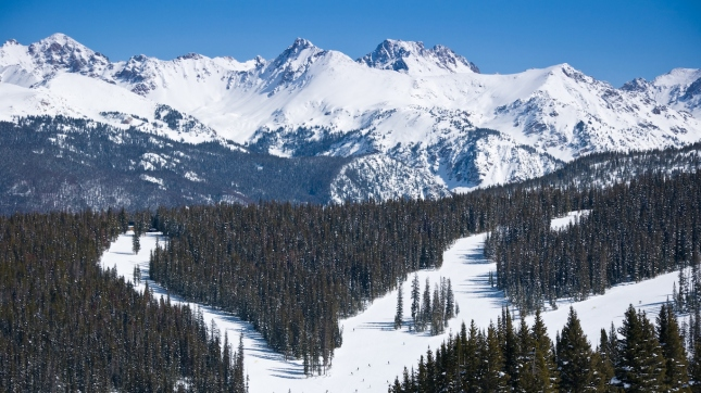 Vail Colorado Ski Runs and Gore Range Mountains, Eagle County
