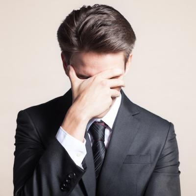 ashamed businessman