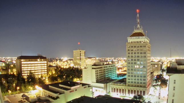 Fresno, California night