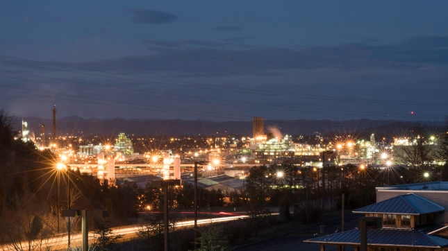 City of Kingsport, Tennessee At Night