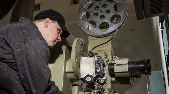 projectionist at work in the room