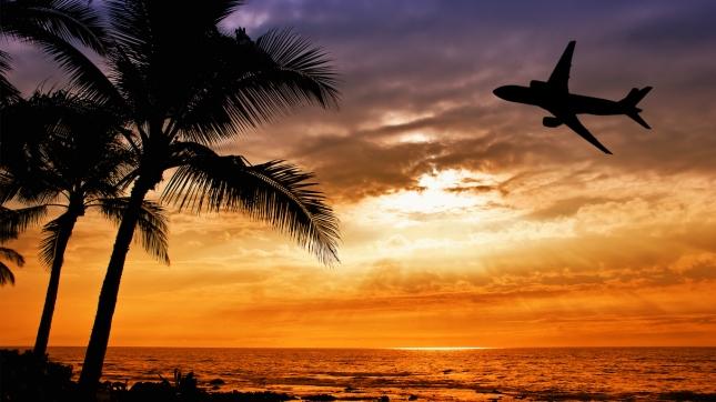 airplane silhouette Hawaii