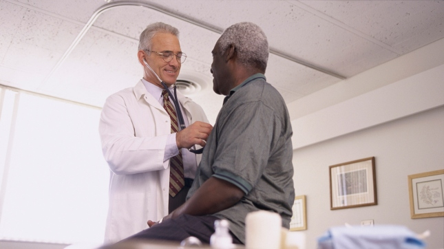Male Doctor and Patient, Ambulatory health care services