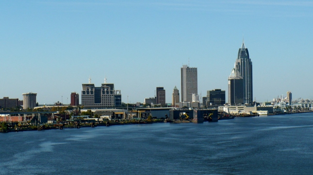 View of downtown Mobile, Alabama