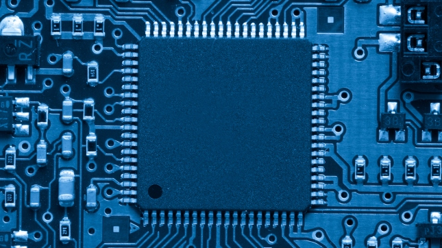 Blue electronic circuit, Processor
