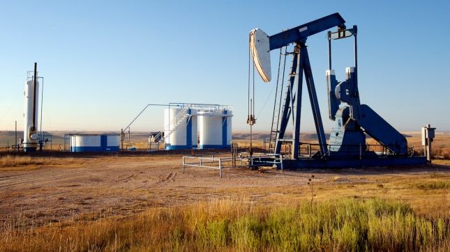 Oil well and Storage Tanks, Texas