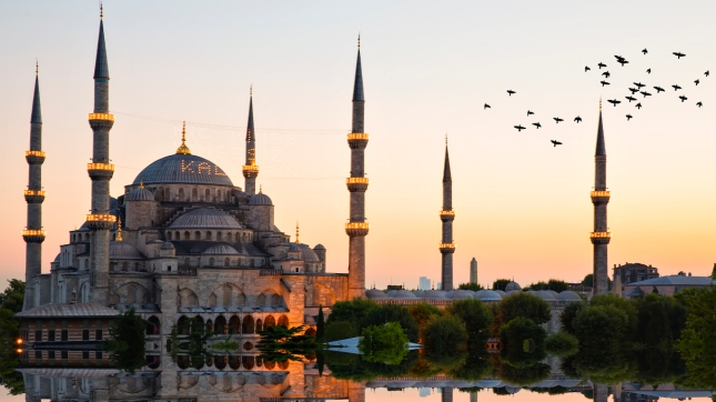 Blue mosque and hagia sophia, Istanbul, Turkey
