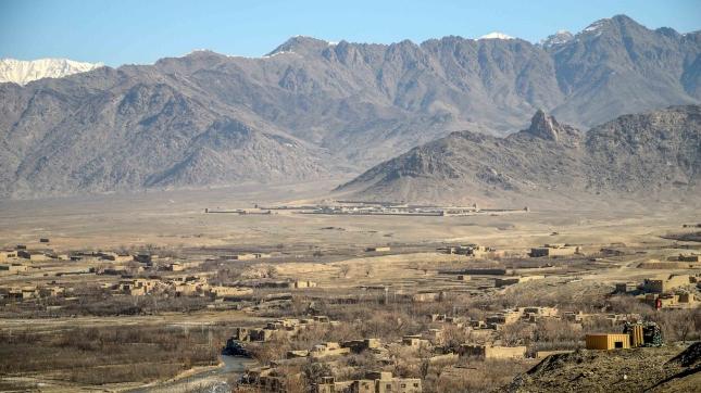 base avancé, Otan, Afghanistan, paysage, habitation
