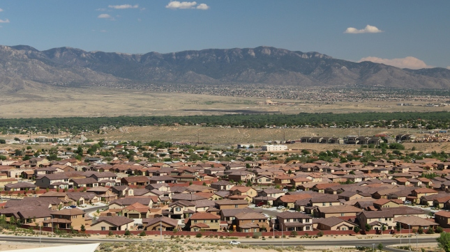 Rio Rancho with Sandia Mountains, New Mexico