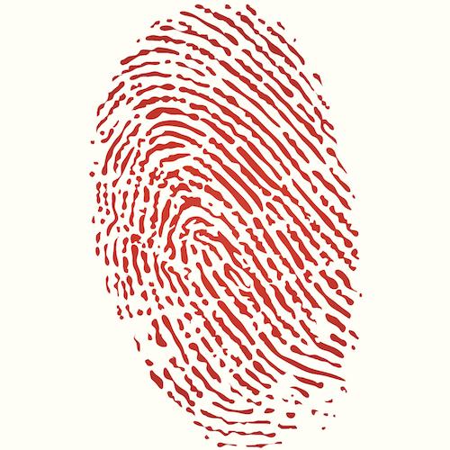 Bloody fingerprint murder