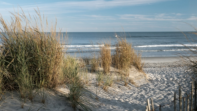 Brigantine beach in the winter in New Jersey