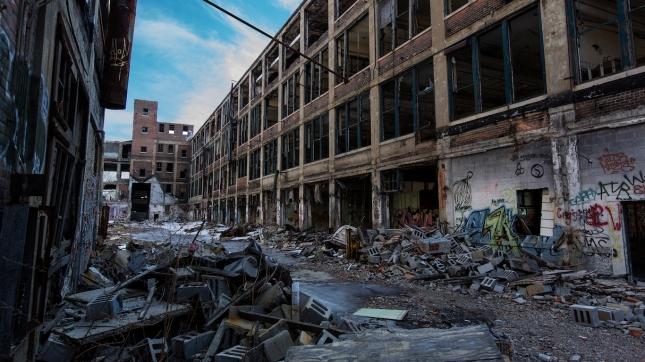 Detroit, Michigan abandoned building