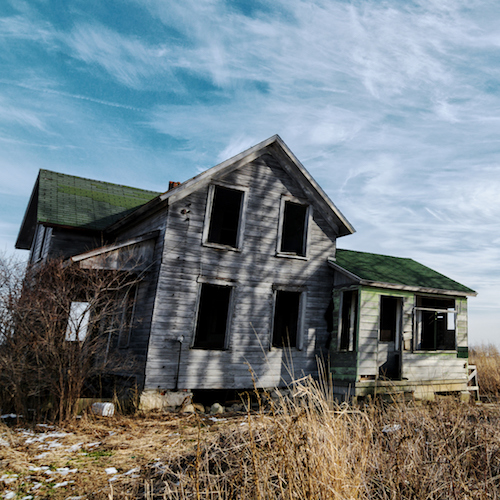 Creepy Old Abandoned House, ghost town