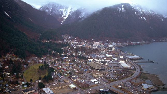 Aerial view of Juneau , Alaska