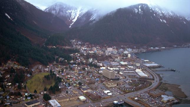 Aerial view of Juneau , Alaska