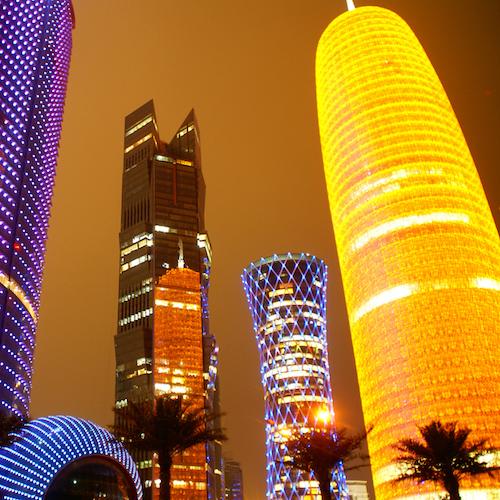 Doha at Night, Qatar