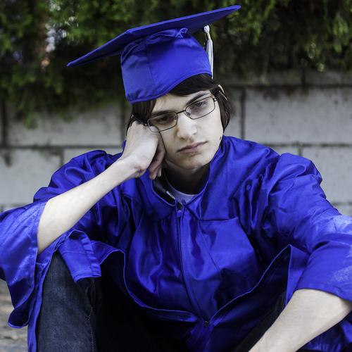Sad Graduate, Student Debt