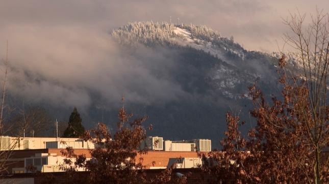 Last Daylight and Snow, Grants Pass, Oregon