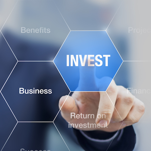 Teacher presenting investment strategy to become a successful business