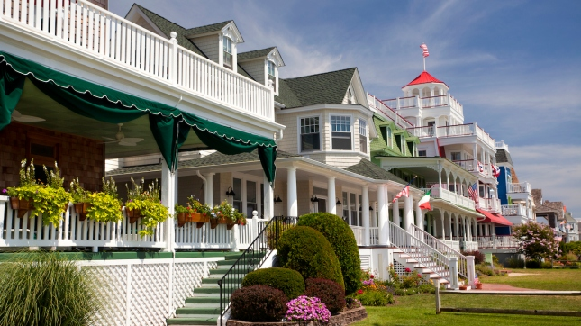 Colorful Victorian Houses in Cape May County, New Jersey