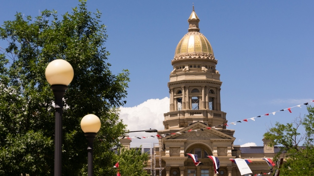 Cheyenne Wyoming Capital City Downtown Capitol Building Legislature