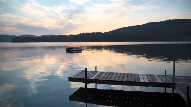 Dock and Diving Platform, Little Squam Lake, New Hampshire
