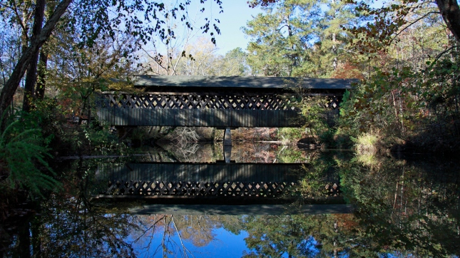 Poole's Mill Covered Bridge in Cumming, Forsyth County, Georgia