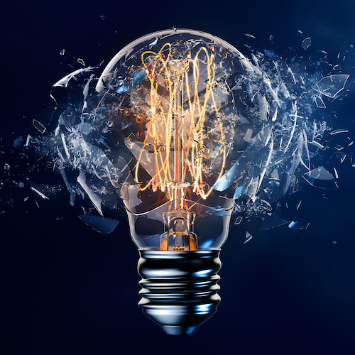 Exploding Light Bulb Innovation