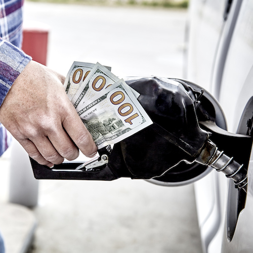 Pumping gas tax money