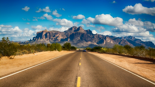 Road to Superstition Mountain Arizona