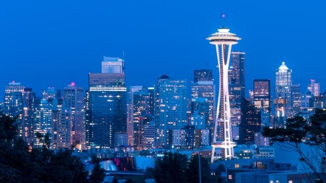 Skyline at Night Seattle, Washington