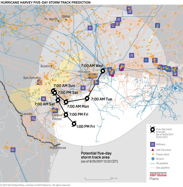America S Largest Refinery Threatened By Hurricane Harvey