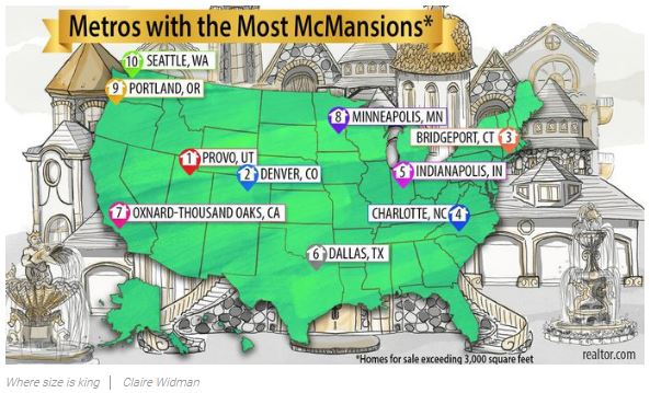 10 Cities With the Most McMansions