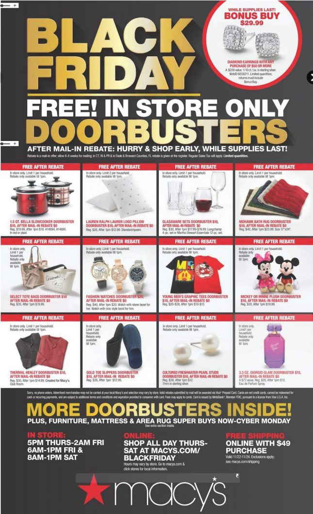 364cbe6b63 Macy's Offers Free Merchandise to Lure Holiday Buyers (NYSE: M) - 24 ...